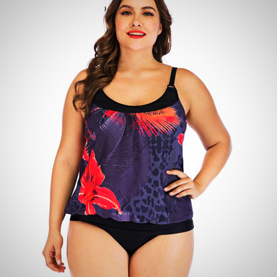 Women Plus Size Two Piece Swimming Suit