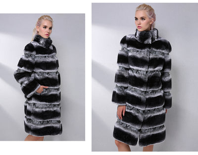 Collar Thick Real Fur Coat
