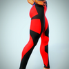 Red-Black Shaping Leggings