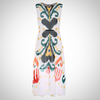 PLUS SIZE VINTAGE FLORAL PRINT MAXI DRESS