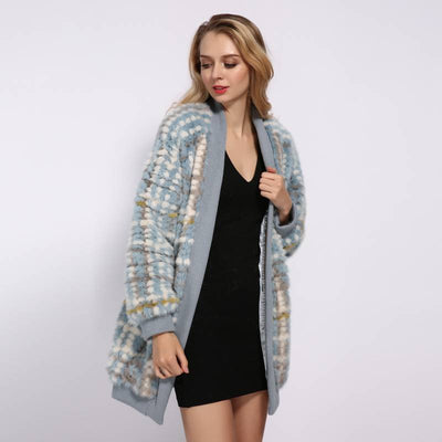 CASHMERE REAL MINK FUR COAT