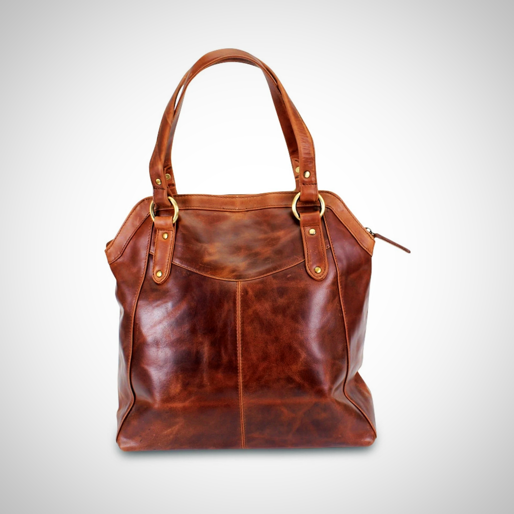 Large Brown Tote Handbag