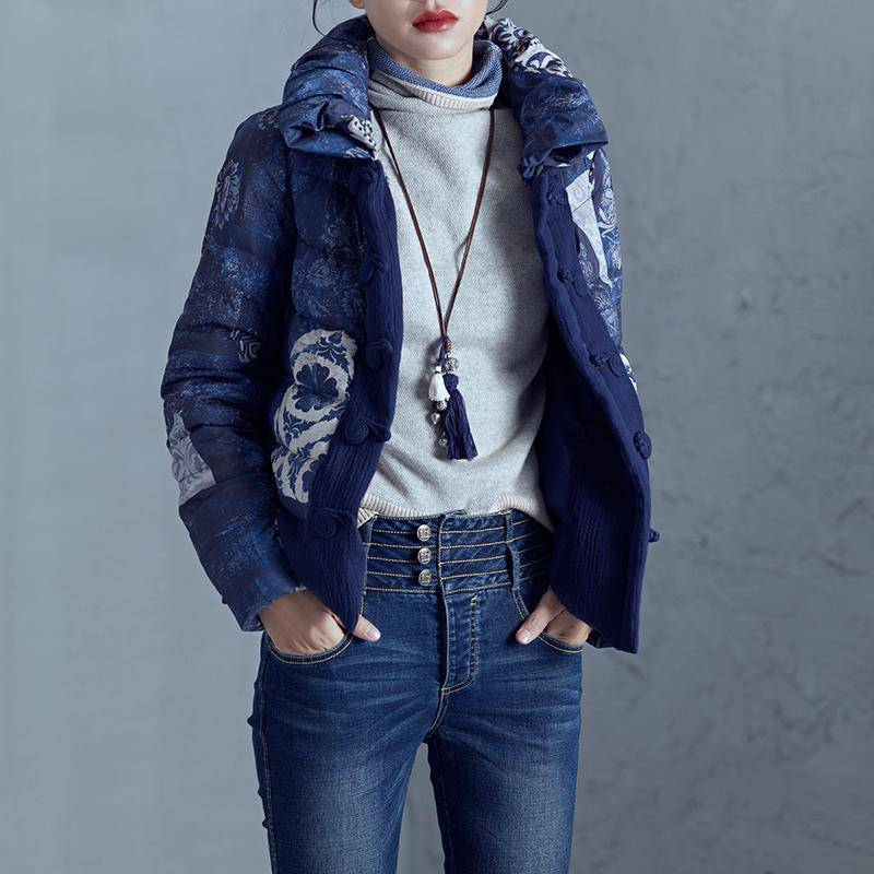 MANUAL BUTTON BUCKLE SHORT DOWN JACKET