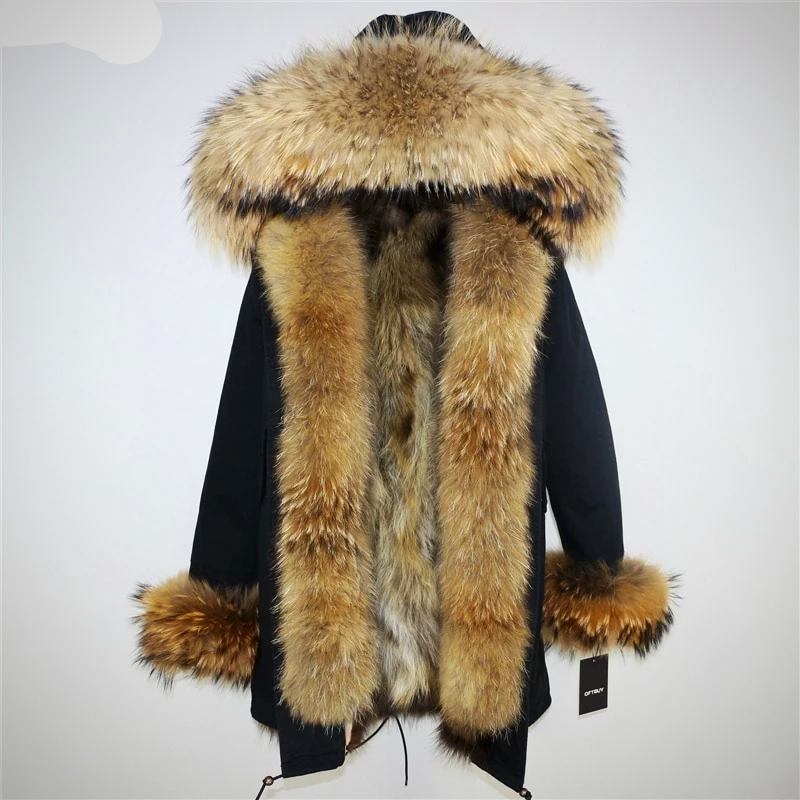 PARKA REAL FOX FUR COAT