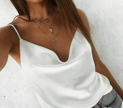 Satin Solid Camis