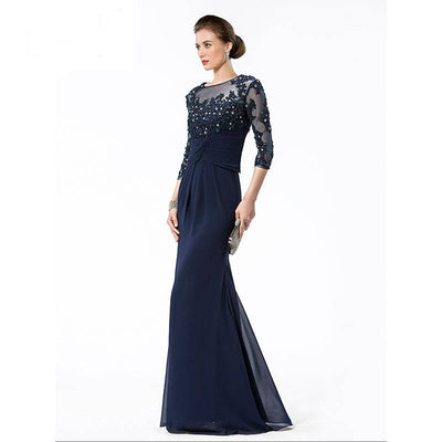 Beaded Chiffon Evening Dress