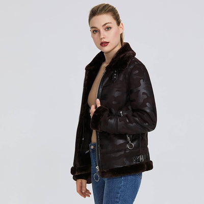 RESISTANT COLLAR WITH FAUX FUR JACKET