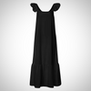 PLUS SIZE CASUAL LOOSE RUFFLED MAXI LONG DRESS