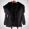 PARKA LARGE RACCOON FUR HOODED COAT