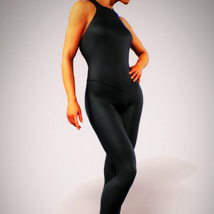 Black Bodysuit Workout Jumpsuit