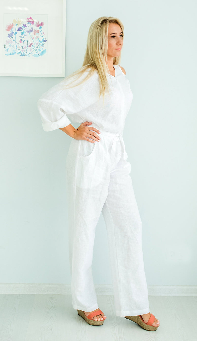Plus Size Linen Jumpsuit