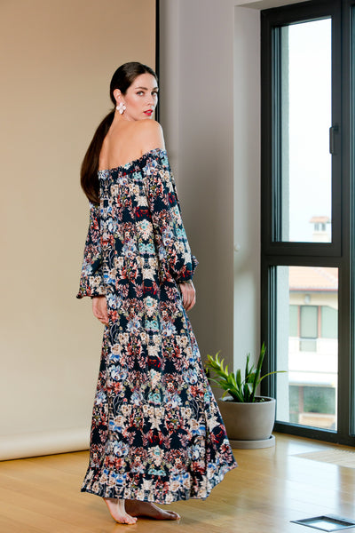 PLUS SIZE MATERNITY BOHO MAXI DRESS