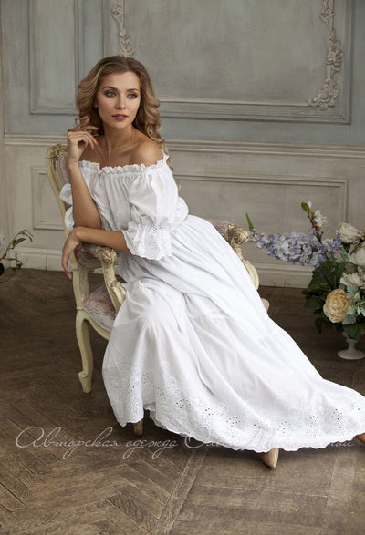 Elegant White summer dress