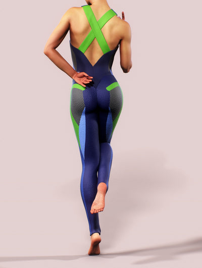 Azure Blue Women Bodysuit