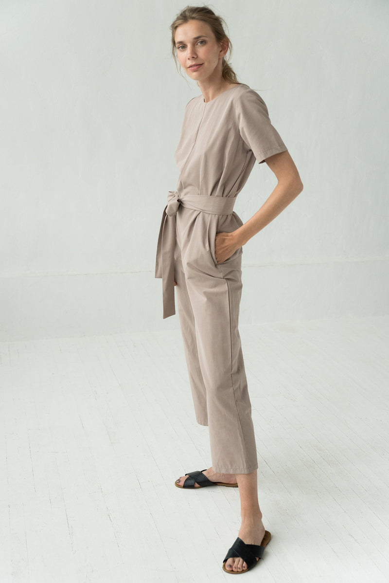 OVERALL LOOSE COCKTAIL JUMPSUIT