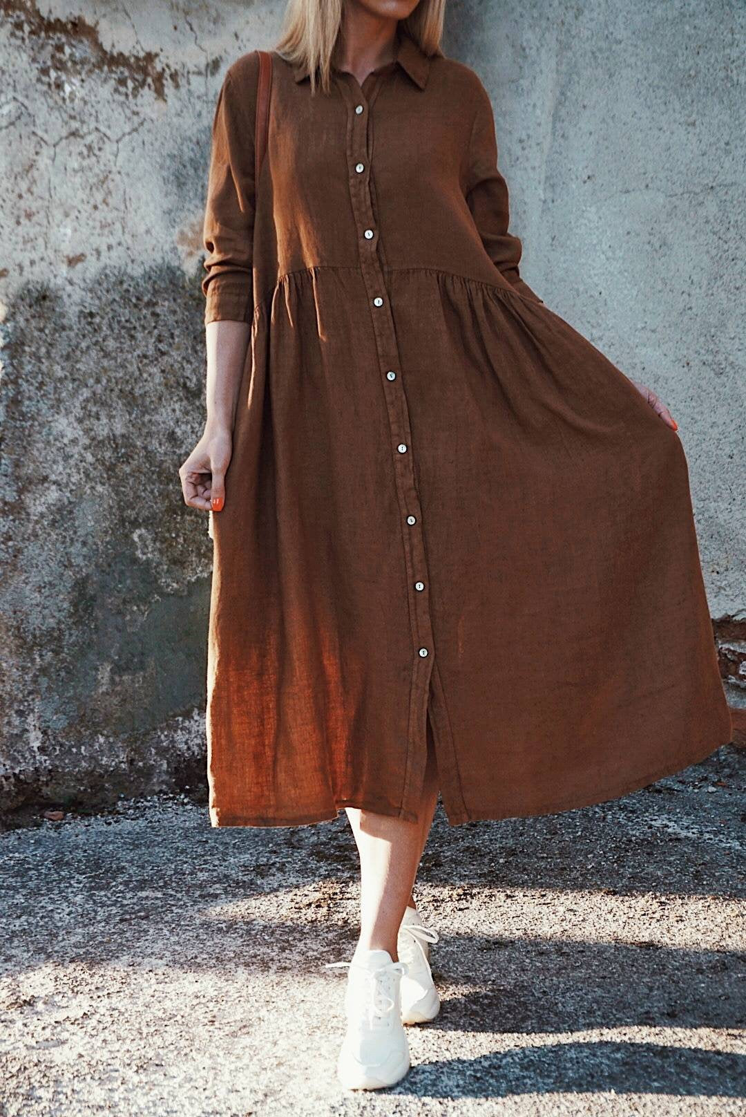 OVERSIZED MATERNITY BOHO DRESS