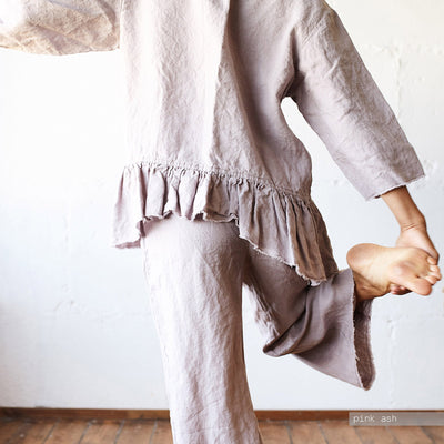 LINEN PAJAMA SET LINEN TOP
