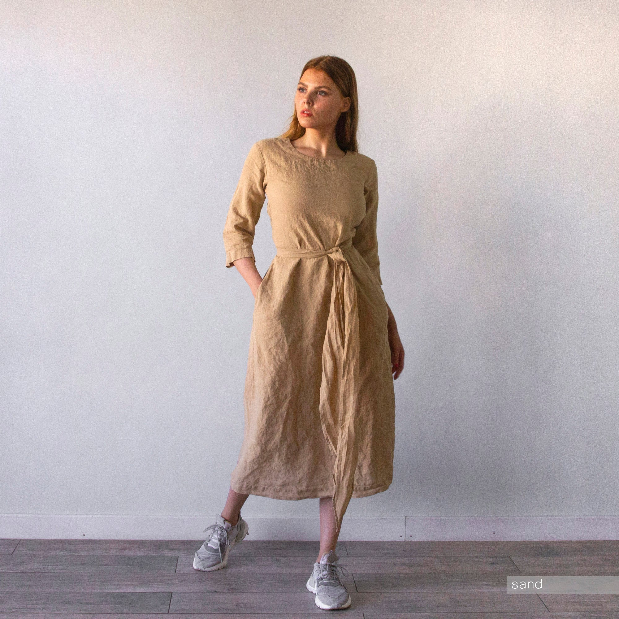 PLUS SIZE LINEN LONG DRESS