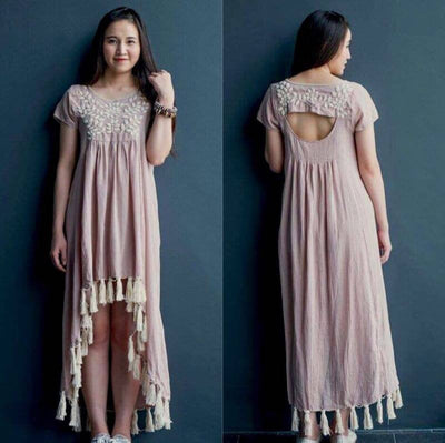 HAND EMBRODERED MAXI DRESS