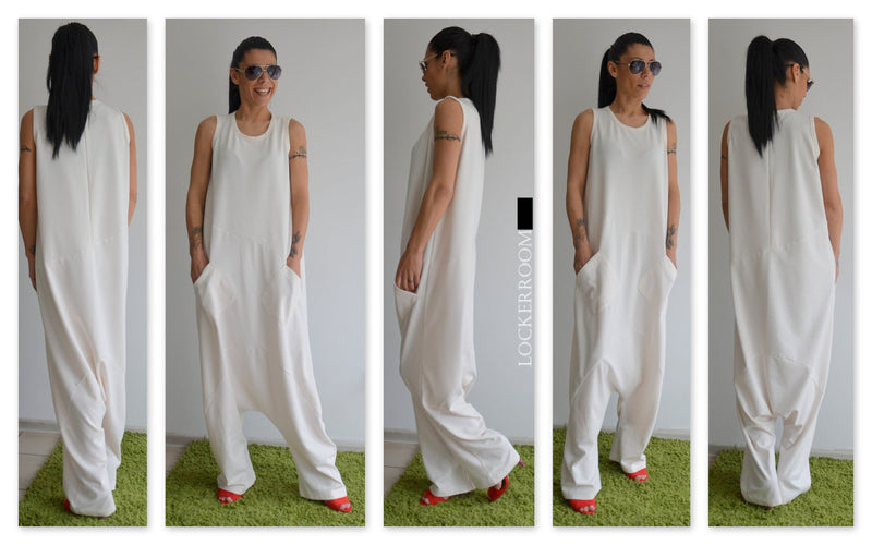 SUMMER WHITE PALAZZO JUMPSUIT
