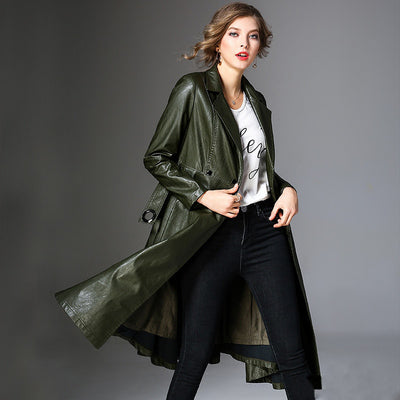 Long Sleeve Windbreaker PU Jacket