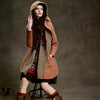 Knitted Patchwork Woolen Coat