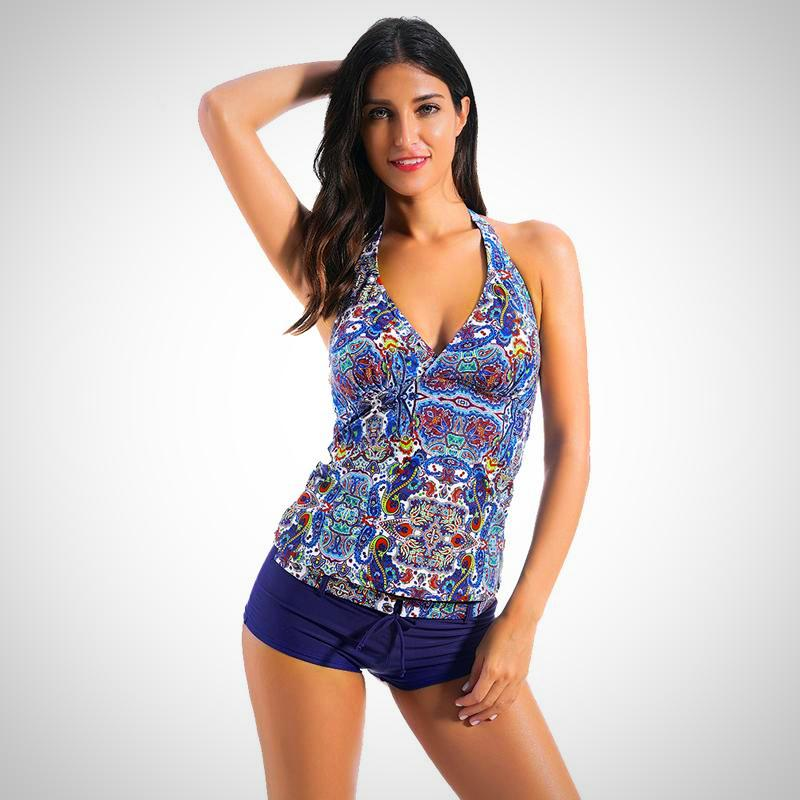 Ladies Plus Size Styish Summer Swimsuit