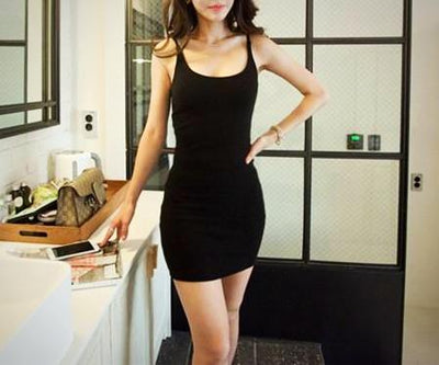 Ladies Backless Bodycon Strap Party Dress
