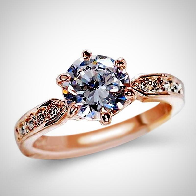 Anel Austrian Crystals Jewelry Engagement Ring
