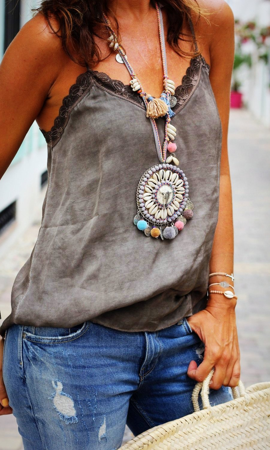 Silver Ethnic Style Bohemian Necklace