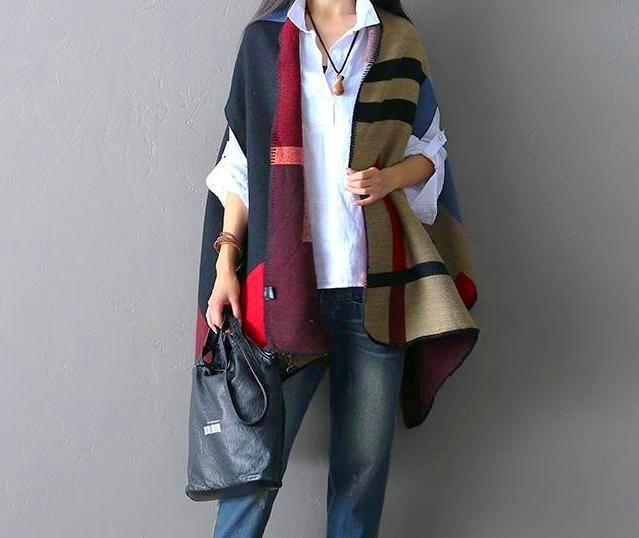 Geometry patchwork Scarf
