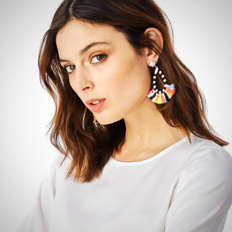 Dangle Drop Good Quality Cotton Tassel Earring