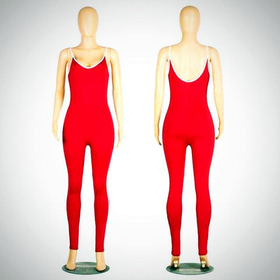 Ladies Long Spaghetti Strap Jumpsuit