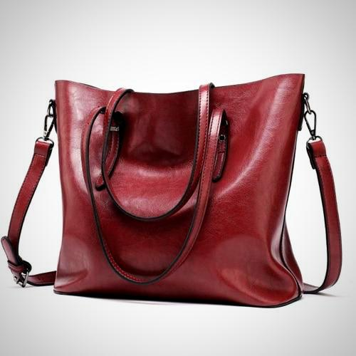 Pu Leather Large Tote Shoulder Bag
