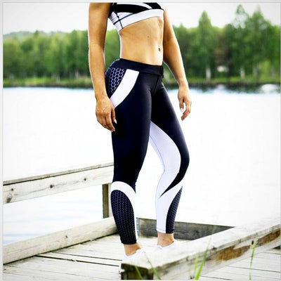 Ladies Mesh Pattern Print fitness Legging