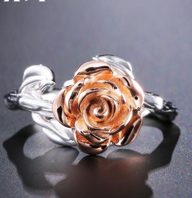Fine Flower Sterling Silver Party Ring