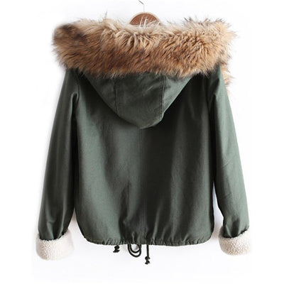 Casual Hooded Drawstring Coat
