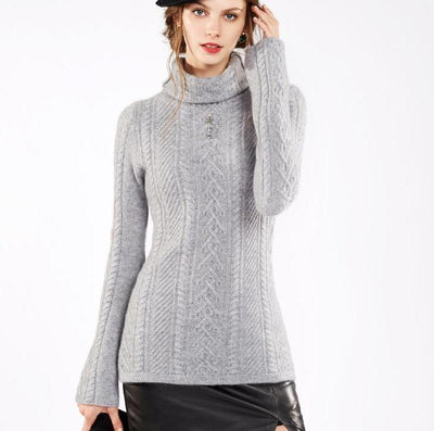 Turtleneck 100% Wool Sweater