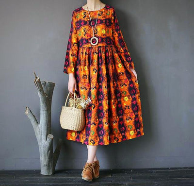 Soft Vintage Full Sleeve Dress