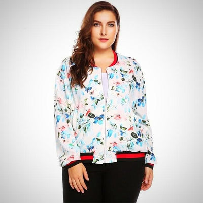Plus Size Women Short Jacket Coat