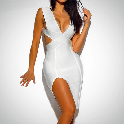 Ladies Backless Bandage Party Dress