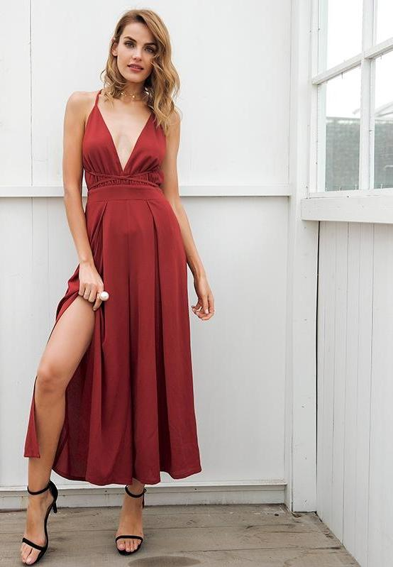 68f279823f1e Split wide leg summer jumpsuit - Aleya Collections