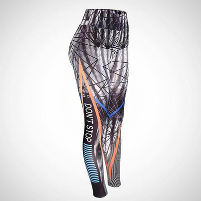 Ladies Letter 3D Print Fitness Legging