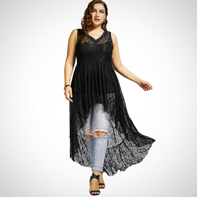 Ladies Plus Size Sleeveless Top