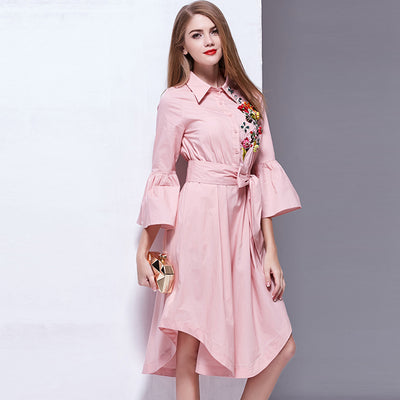 Ladies Flare Sleeve Dress