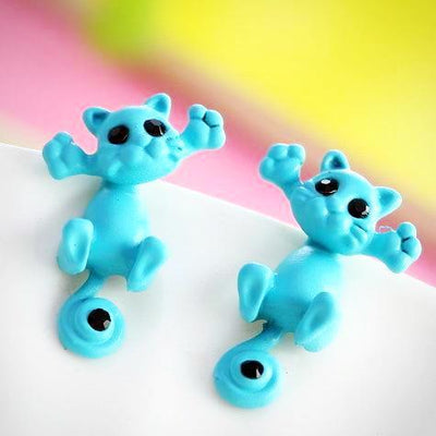 Multiple Color Classic Kitten Cute Stud Earring
