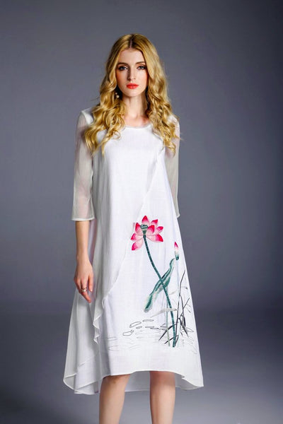 Ladies Plus Size Stylish Casual Spring Dress