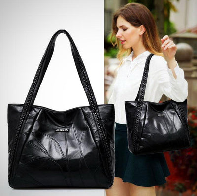 Genuine Sheepskin Patchwork Casual Hand Bag