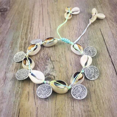 Handmade Silver Coin Squirrels Barefoot Ankle Bracelet