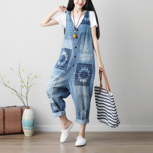 Summer Printed Denim Jeans Pant